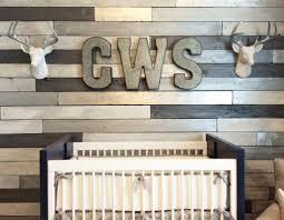 Metallic Wood Wall Nursery