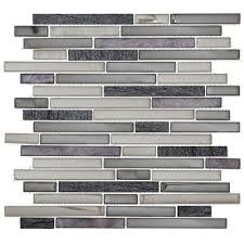 jeffrey court 13x11 3 4 glass quartz silver sea pencil mosaic