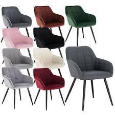 1x esszimmerstühle design stuhl mit arm rücklehne samt