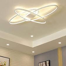 modern oval led deckenleuchte deckenle schlafzimmer küchele dimmbar decken pendelleuchte esszimmer esstisch designer leuchte chic deco flur bad