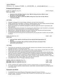 Banking Resume Sample Entry Level Bank Teller
