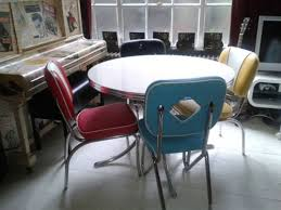 Retro Furniture 50s American Diner Kitchen Table Chair Made By Cola Red