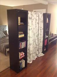 Panel Curtain Room Divider Ideas by Best 25 Room Divider Bookcase Ideas On Pinterest Apartment