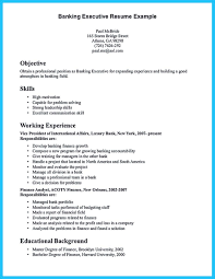 Banking Executive Resume Example