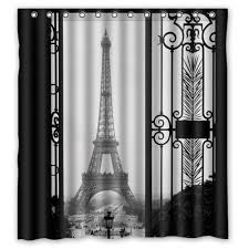 Paris Eiffel Tower Bathroom Accessories by Greendecor Paris Eiffel Tower Waterproof Shower Curtain Set With