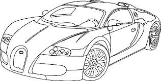 Bugatti Coloring Pages Print Corvette