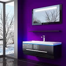 homeline 70 cm schwarz badmöbelset vormontiert