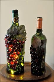 Grape Decor For Kitchen Cheap by Handmade U201cgrape U201d Wine Bottle Nightlights Wine Bottle Crafts
