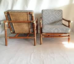 Ficks Reed Lounge Chair by Set Of Rattan Lounge Chairs And Ottoman By Ficks Reed For Sale At