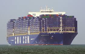 hollande inaugure le porte conteneurs géant bougainville au havre