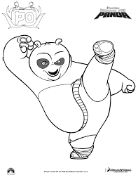 Coloring Pictures Kung Fu Pandaprintablecoloring Pages