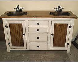 rustic farmhouse vanity copper sink 42 bathroom