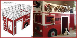 100 Fire Truck Loft Bed Diy Truck DIY Design Ideas