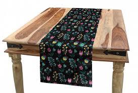 abakuhaus tischläufer esszimmer küche rechteckiger dekorativer tischläufer frühling pflanzen blumen und budding kaufen otto