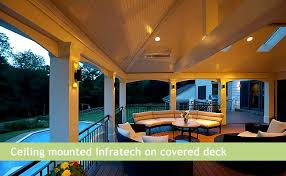 Infratech Infrared Heat Lamp by Radiant Infrared Deck And Patio Heating Heating Green