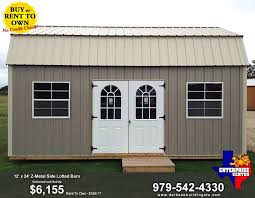 12 x 24 z metal side lofted barn 6 155 enterprise center blog