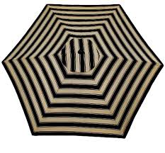 Home Depots Plantation Patterns 9 Ft Twilight Stripe Aluminum Umbrella 8998