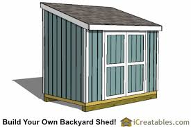 6x10 lean to shed plans icreatables com