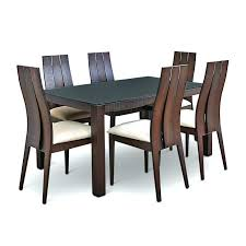 Two Seater Dining Table Six And Chairs Black Glass Top Set In