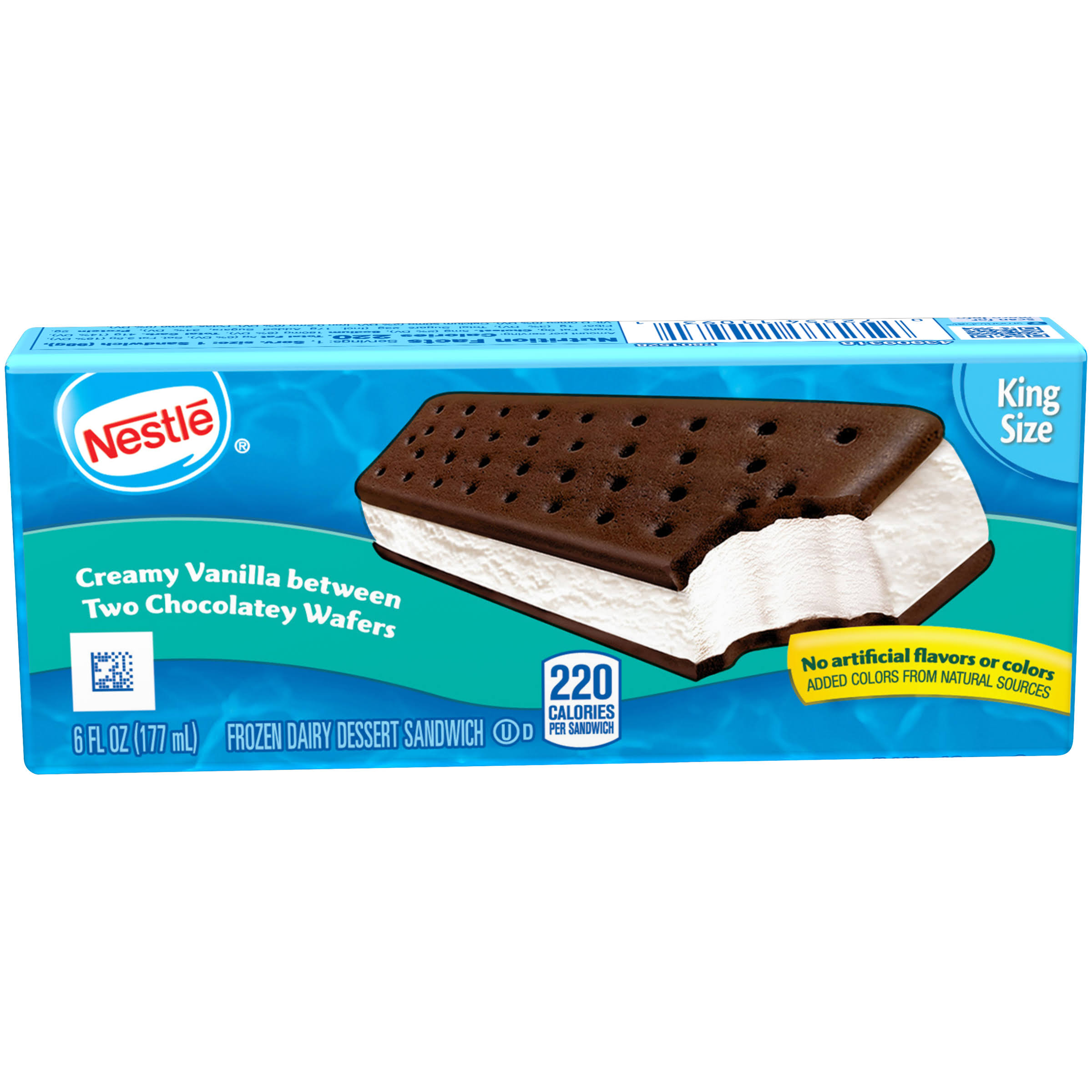Nestle Ice Cream Sandwich - King Size, Vanilla