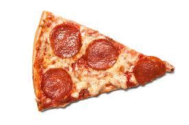 Piece of salami pizza stock photo 310