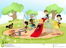 28 Collection Of Children Playing Park Clipart