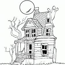 Haunted House Printable Halloween Coloring Pages Free