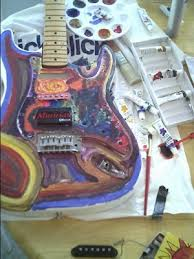 A Psychedelic Paint Job On One Of Yuns Guitars