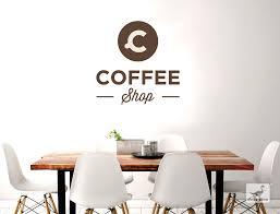 küche wandtattoo mit schriftzug coffee shop als deko idee