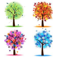 Four season tree clipart