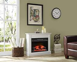 Whalen Furniture Fully Assembled Chesapeake 32quot Mantel Electric Fireplace Pure White
