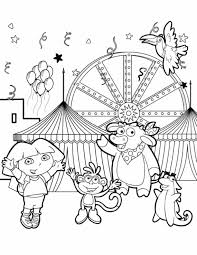 Dora And Her Friends Dancing Explorer Coloring Page