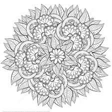Click To See Printable Version Of Abstract Flowers Zentangle Coloring Page