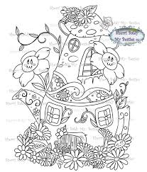 100 Bali Tea House Instant Download Digi Stamp Magical Flower Town The Coffee Img4 By The Artist Sherri Baldy