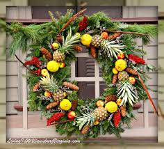 Colonial Williamsburg Halloween by Williamsburg Christmas Decorations With Fruit Living In