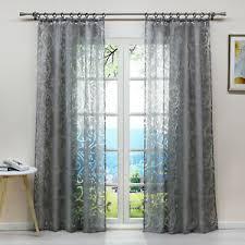 moderne gardinen vorhänge mit bildmotiven fürs wohnzimmer