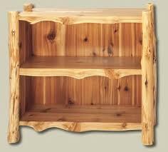 Small Cedar Log Bookshelf 1070