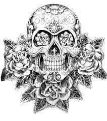 Sugar Skull Tatoo Hard Adult Difficult Coloring Pages Printable And Book To Print For Free Find More Online Kids Adults Of