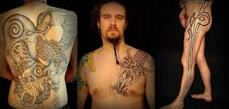 Neo Nordic Tattoos By Colin Dale The Leg Tattoo Was Hand Poked