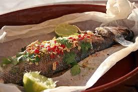 cuisine bar poisson bar thaï en papillote chez becky et liz de cuisine anglaise