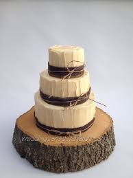 Picture Rustic Wedding Cake White Chocolate Ganache