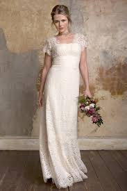 Cap Sleeves V Back Floor Length Alluring Sheath Lace Wedding Dress