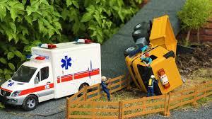 100 Dump Truck Crash BRUDER TOYS Dump Truck CRASH Ambulance In Action Kids Video