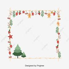 Lovely Christmas Decorations Vector Frame Bough Yellow Icon