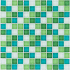 details zu glasmosaik fliesen grün türkis weiß wand dusche küche 1 matte es 29303