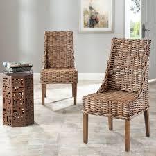 Safavieh Suncoast Brown Rattan Mango Wood Side Chair Set Of