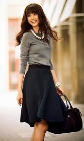 Skirts Sweaters Fashion Work Outfit Black Sleeve