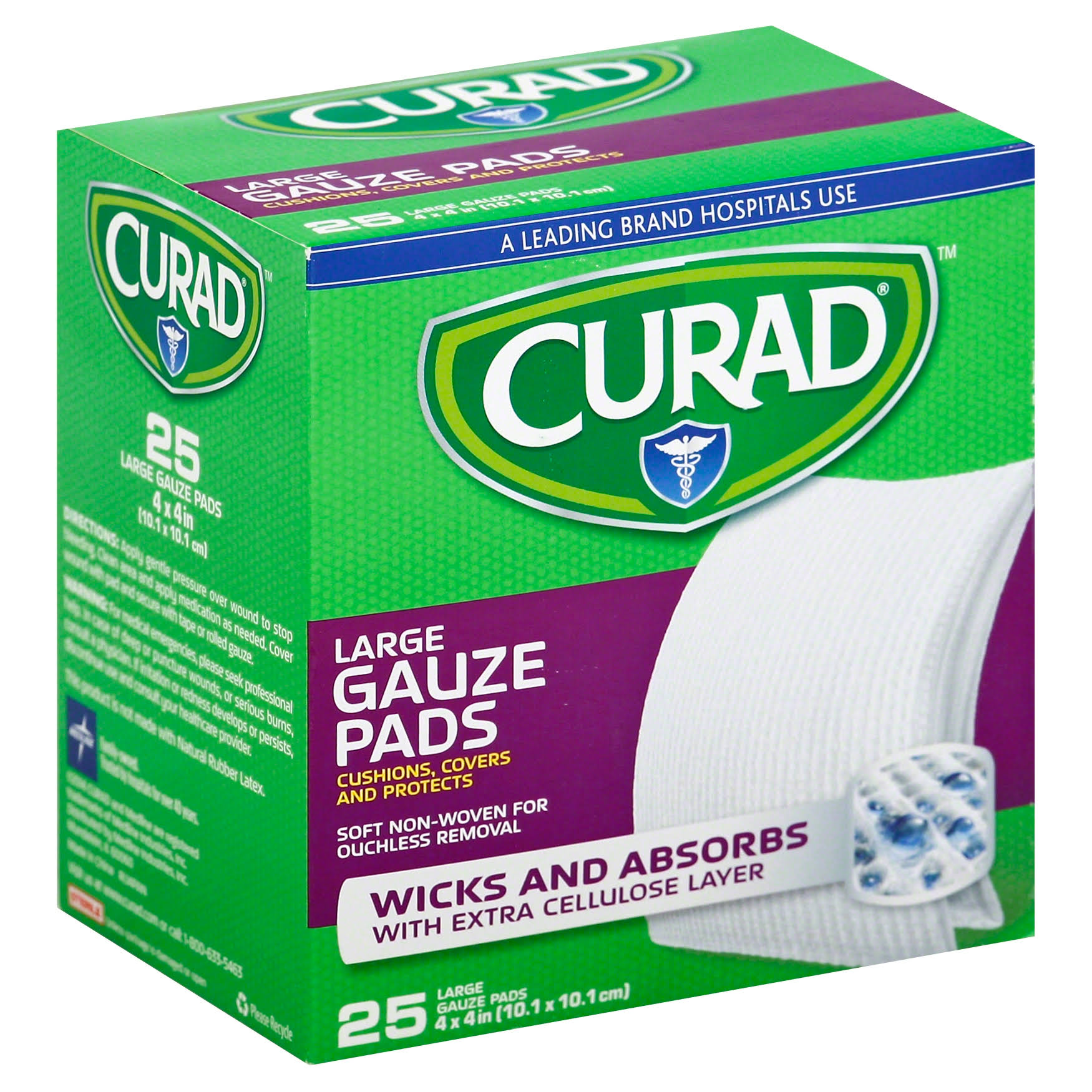 Curad Pro-Gauze Sterile Pads - 25 Sterile Pads, Large