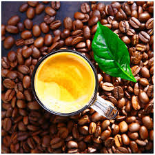 glasbild kaffee und bohnen