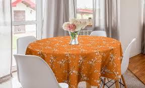 abakuhaus tischdecke kreis tischdecke abdeckung für esszimmer küche dekoration blumen kirschbaum blüten kaufen otto